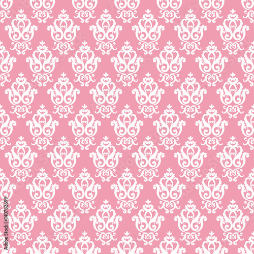 quotseamless damask pattern pink texture in vintage rich