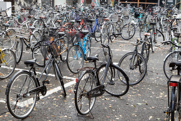 Bicycle parking on park zone of school