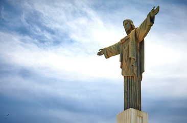 Printed kitchen splashbacks Rio de Janeiro The giant statue of Christ the Redeemer on Pico Isabel de Torres in Puerto Plata, Dominican Republic. A smaller-scale version of the iconic monument that overlooks Rio de Janeiro in Brazil