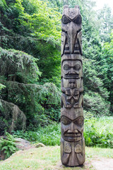 Inuit Totem in Forest