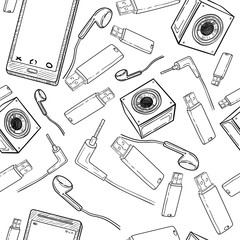 Seamless pattern of electronic gadget