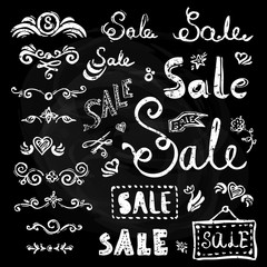 Sale hand drawn lettering