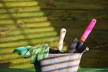 Gardening tools, gardening concept