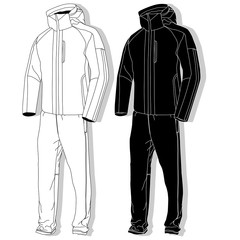 Sport suit isolated.