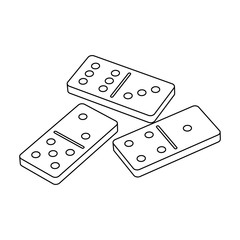 Dominoes for playing in the casino. Gambling for money.Kasino single icon in outline style vector symbol stock illustration.