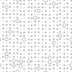 Seamless geometric black and white ornament generated by random squares