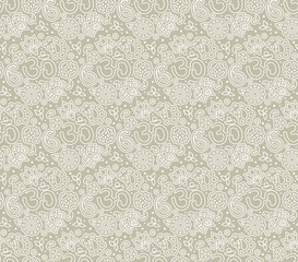 OM seamless pattern