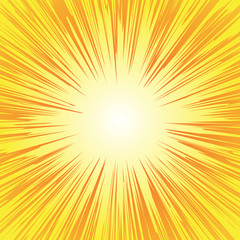 Superhero frame, Comic book radial lines background, Manga or anime speed graphic texture, Explosion vector illustration , Rectangle fight stamp for card, Sun ray or star burst element.