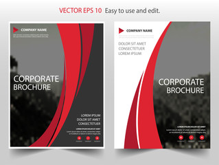 Red curve Vector business proposal Leaflet Brochure Flyer template design, book cover layout design, abstract business presentation template, a4 size design