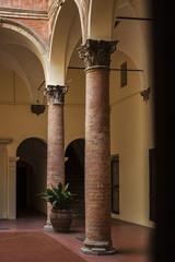 Tall courtyard columns