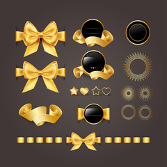 Golden design elements.