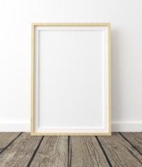 frame mock-up, poster mock-up on white backround