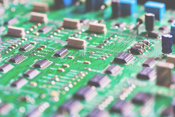 Printed circuit board. Electronic components