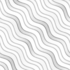 Raster Seamless Greyscale Texture. Gradient Wavy Lines Pattern. Subtle Abstract Background