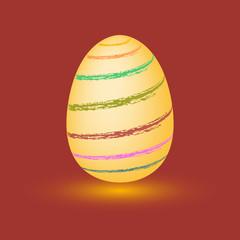 Egg. Colorful Easter egg. Abstract the egg. Vector egg.