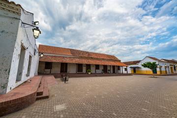 Fototapete - Small Plaza in Mompox