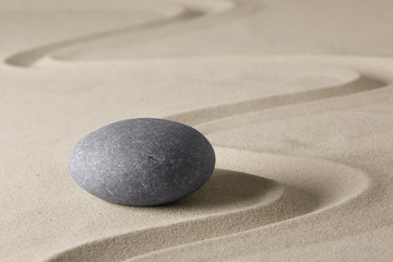 zen budhism meditation stone and sand. Paterns for yoga, relaxation and concentration..