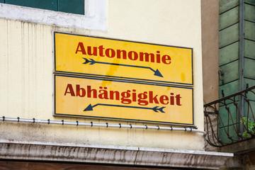 Schild 227 - Autonomie