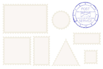 Blank post stamp shape - rectangle, triangle, circle, square