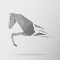 Horse animal low poly design. Triangle vector illustration.