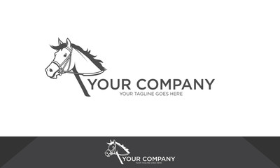 Horse logo, horse illustration, horse vector template