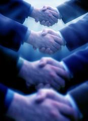 close up shot of handshake