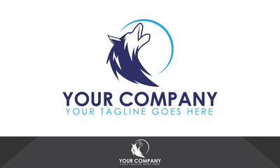 Wolf logo, wolf illustration, wolf vector template