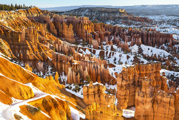 Bryce Canyon National Park in winter, Utah - sunset point