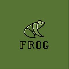 Frog illustration logos sign mark vector trend