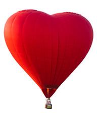 Poster Montgolfière / Dirigeable Red heart hot air balloon