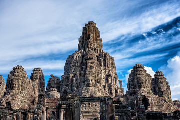 Blue Sky at Bayon - Siem Reap, Cambodia