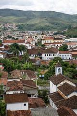 View over Mariana from the from the bell tower of Basilica de Sao Pedro dos Clerigos, Minas Gerais, Brazil.
