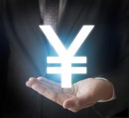 Money icon in hand