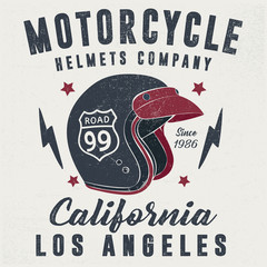 vintage helmet illustration print design