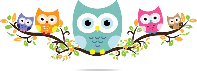owl in vector