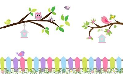 Ramas de árbol con pajaritos 1-01