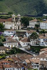 A view over the city of Ouro Preto, Brazil.