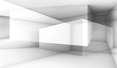 White intersected polygons, 3d