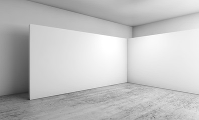 Abstract 3d empty interior, white walls