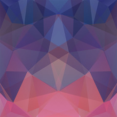 Abstract background consisting of purple, blue, pink triangles. Geometric design for business presentations or web template banner flyer. Vector illustration