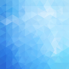 Geometric pattern, triangles vector background in blue tones. Illustration pattern