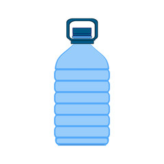 Plastic bottle of water with grip. Vector illustration