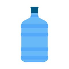 Plastic bottle of water. Vector illustration