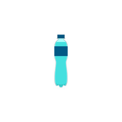 Plastic bottle of water. Vector illustration