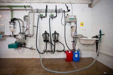 Cleaning room in milking plant