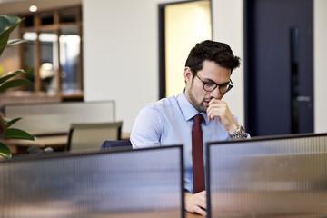 Caucasian European business executive in an office