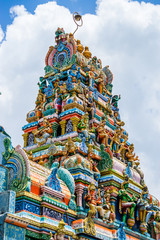 The tower of a Hindu Temple dedicated to Lord Shiva in Galle, Sri Lanka.