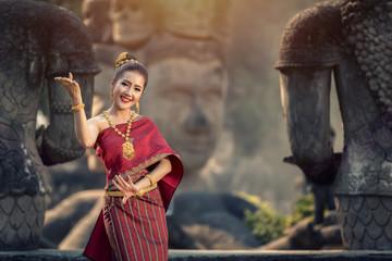 Beautiful girl with beautiful dress in Asia