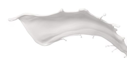 Milk splash on White Background