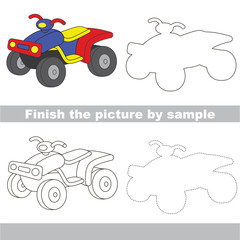 Drawing worksheet for Toy Transport.